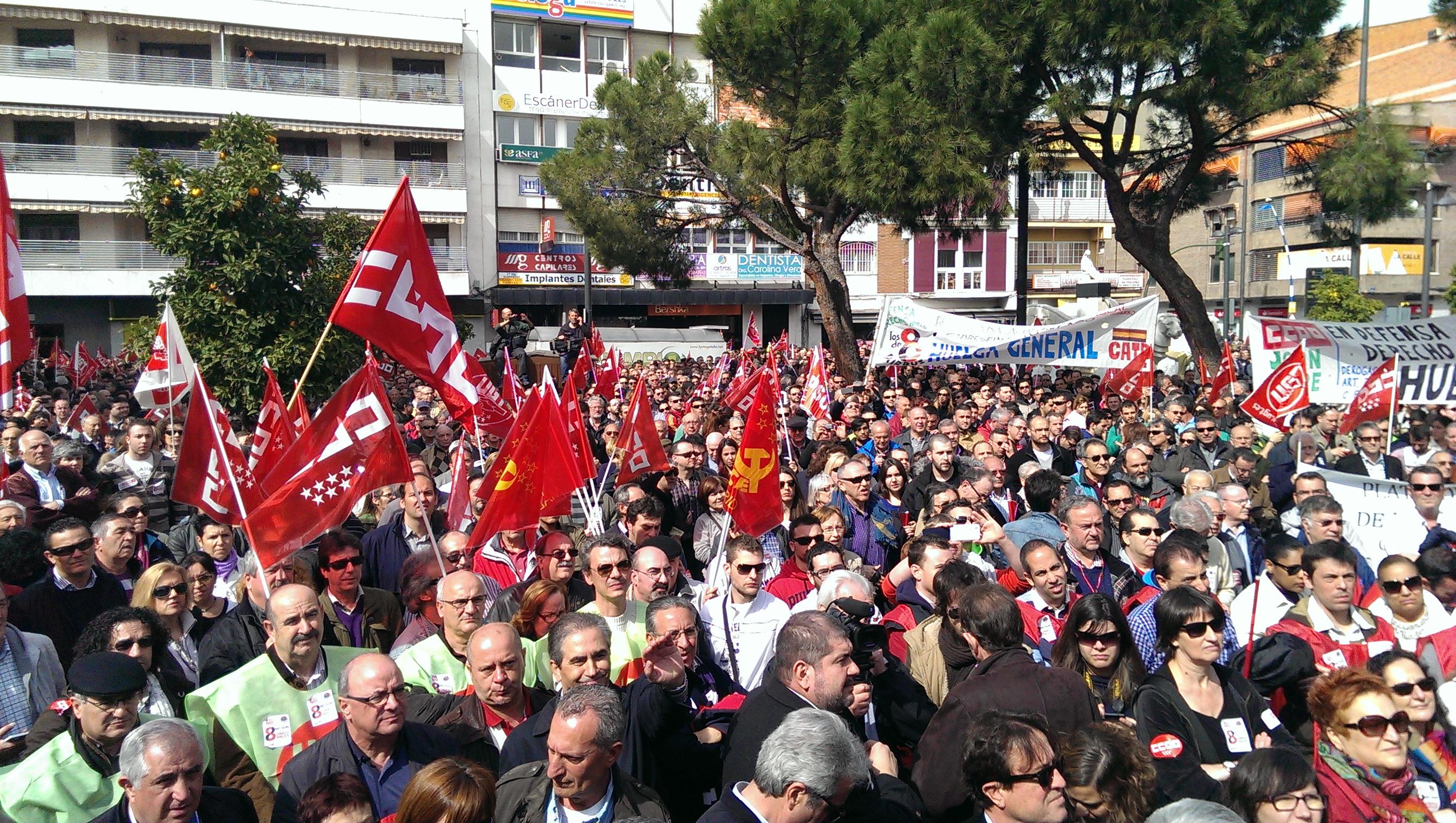Manifestación a favor de los 8 trabajadores de Airbus