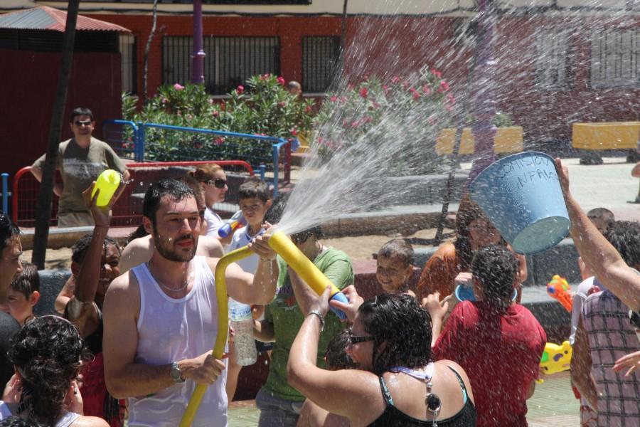 Celebraciones acuáticas durante las últimas fiestas de La Alhóndiga