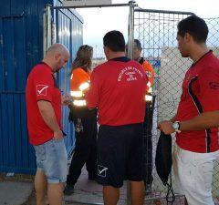 El Ciudad de Getafe trata de acceder a las instalaciones de la ciudad deportiva
